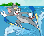 Tom Jerry Ski Stunts